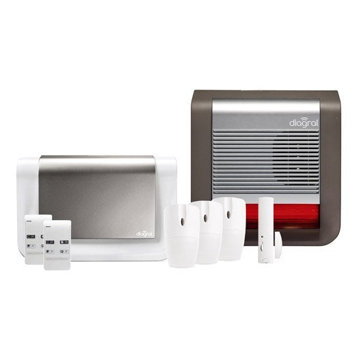 Alarme maison sans fil compatible animaux DIAGRAL Diag08bsf