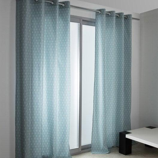 rideau tamisant antares bleu baltique x cm leroy merlin. Black Bedroom Furniture Sets. Home Design Ideas
