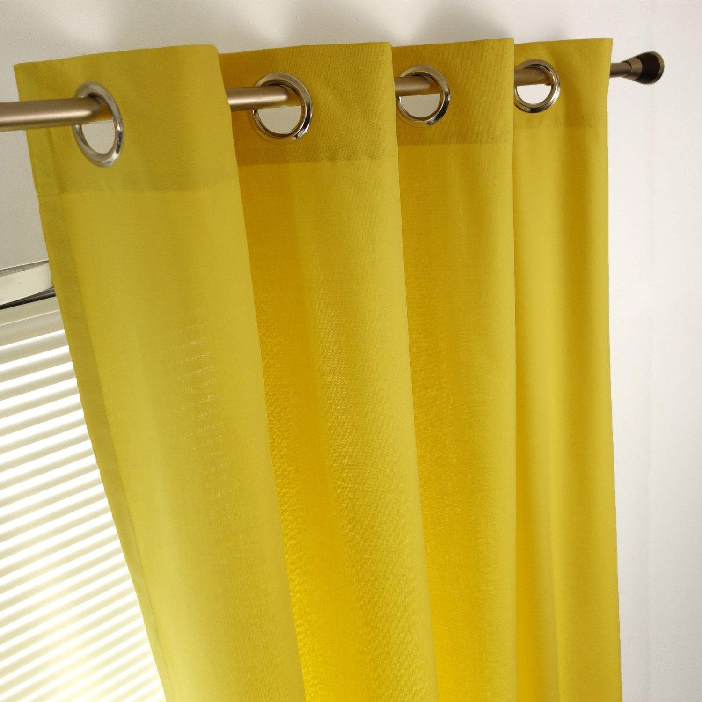Rideau tamisant, Sunny, jaune, l.140 x H.260 cm INSPIRE