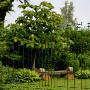 Grillage panneau Soudé Naterial vert H.1.23 x L.2.5m, maille 200x50mm