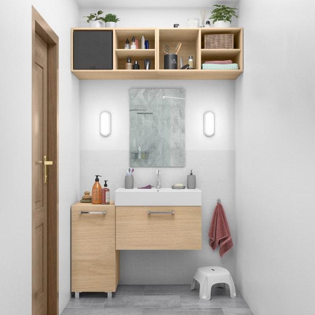 Une salle de bains optimis e dans 6m leroy merlin - Leroy merlin rangement salle de bain ...