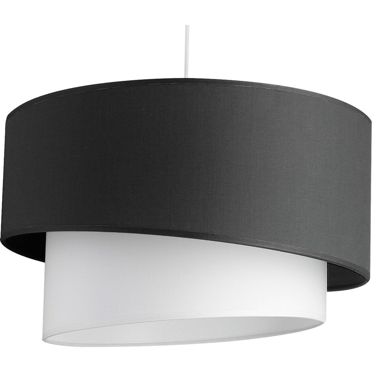 Suspension, e27 design Ionos coton gris anthracite 1 x 60 W METROPOLIGHT
