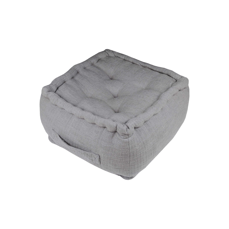 Pouf Venise, gris souris l.40 x H.40 cm