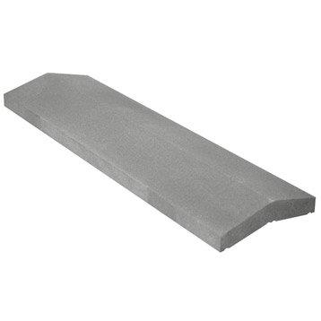 Couvre-mur pierre reconstituée 2 pans H.40 x L.99 x P.25 cm