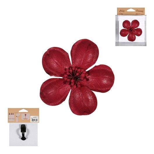 fleur sur pince fleur rouge leroy merlin. Black Bedroom Furniture Sets. Home Design Ideas