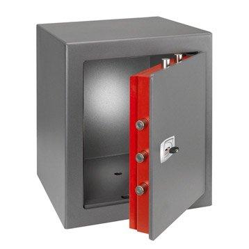 Coffre-fort haute sécurité à clé TECHNOMAX technofire Dpk/7 H49 x l43 x P43 cm