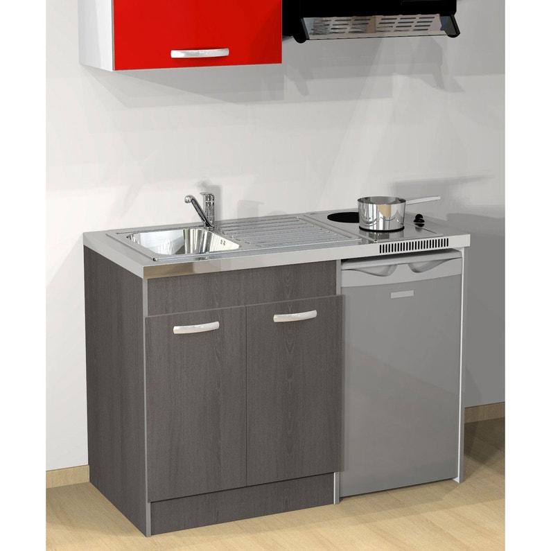Kitchenette Electrique Imitation Chêne Galiano Spring H 92 5 X L 120 X P 60 Cm