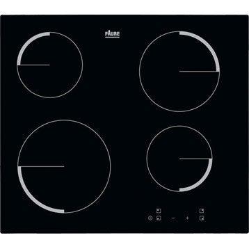Plaque vitroc ramique faure fev6240fba 4 foyers - Plaque de cuisson gaz leroy merlin ...