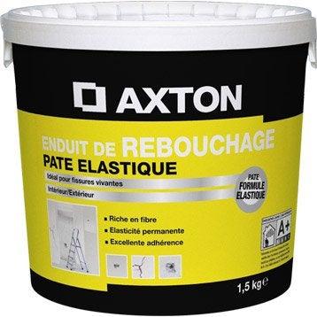 enduit de rebouchage lastique axton en p te blanc cass jaune 1 5 kg. Black Bedroom Furniture Sets. Home Design Ideas