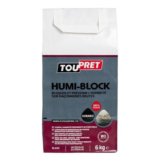 Enduit anti humidit humi 39 block toupret en poudre blanc - Enduit anti humidite ...