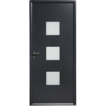 Porte d'entrée aluminium Phenix ARTENS poussant gauche, H.215 x l.90 cm