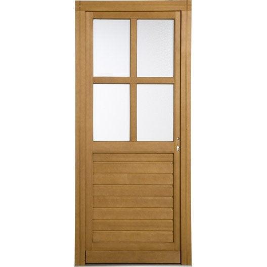 porte de service bois peindre vichy poussant droit h200. Black Bedroom Furniture Sets. Home Design Ideas