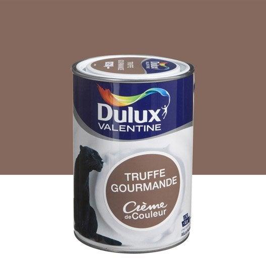 Peinture brun gourmand dulux valentine cr me de couleur l leroy merlin for Peinture murale taupe