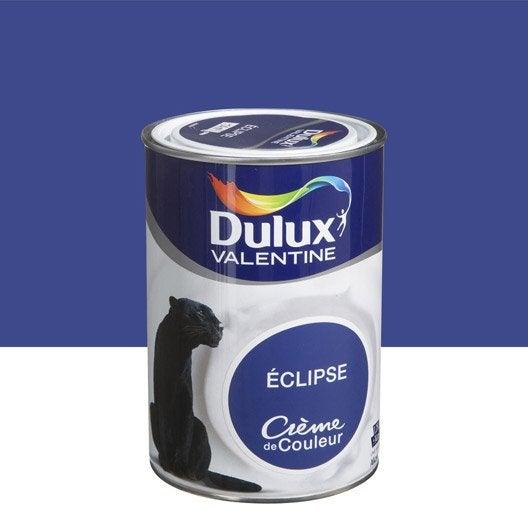 peinture multisupports cr me de couleur dulux valentine bleu clipse l leroy merlin. Black Bedroom Furniture Sets. Home Design Ideas