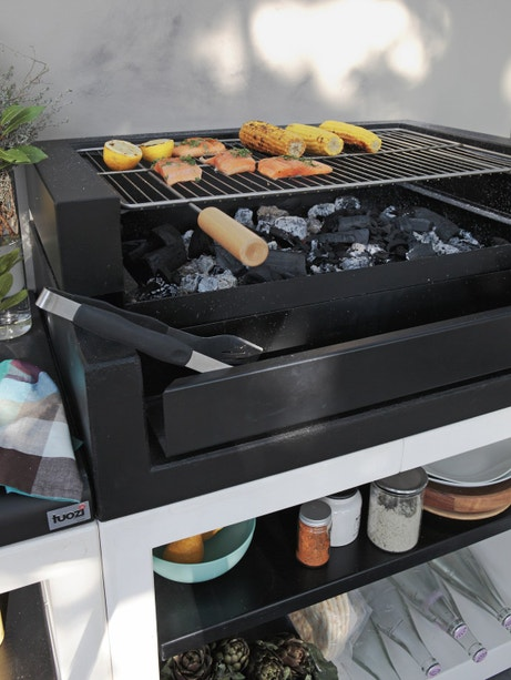 Barbecue fixe contemporain