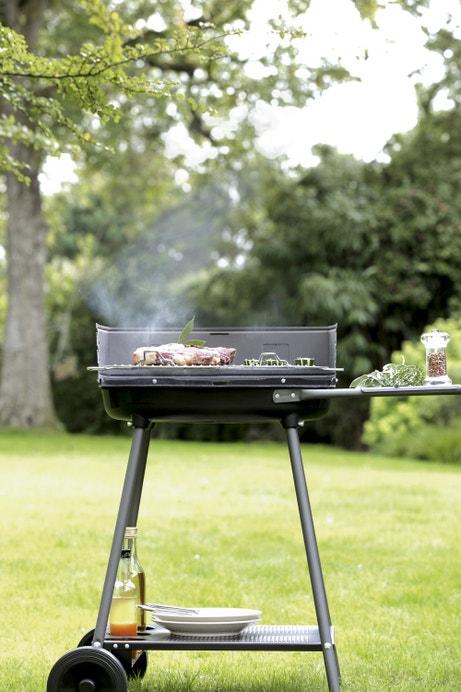 Un barbecue au charbon de bois
