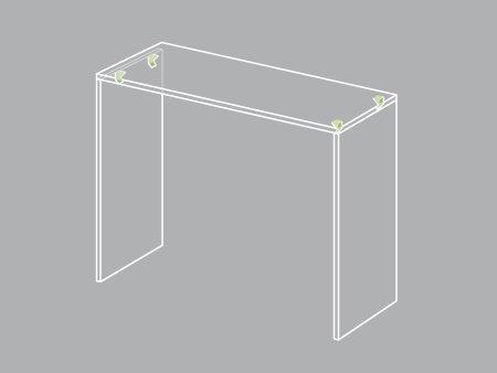Comment cr er une console leroy merlin - Construire un meuble en mdf ...