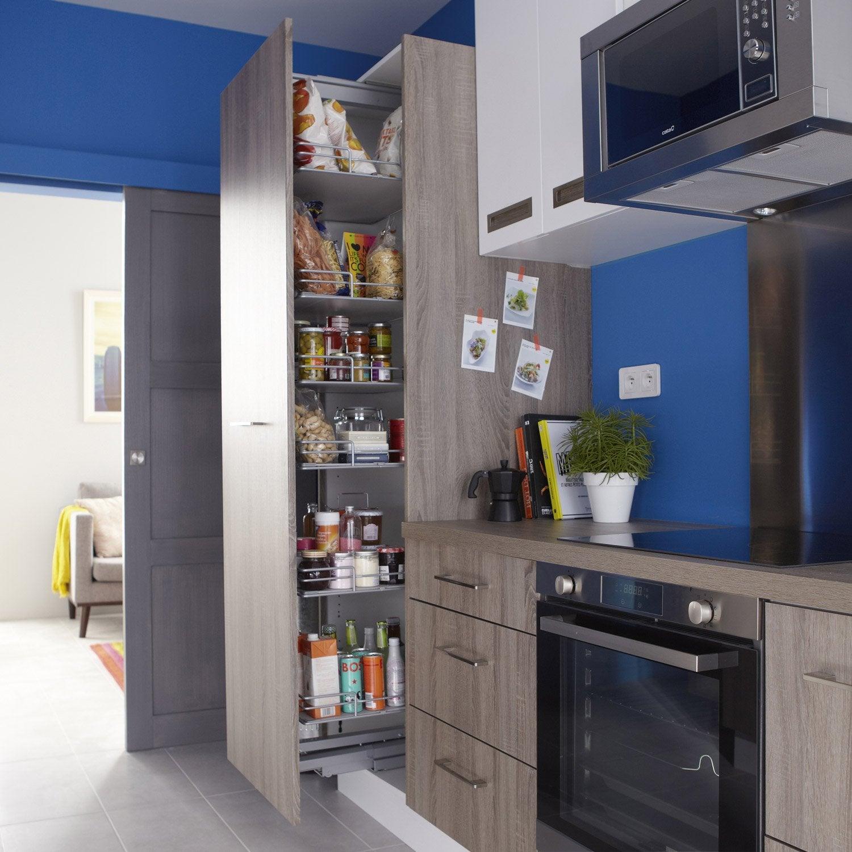 rangement coulissant colonne 6 paniers pour colonne cm delinia leroy merlin. Black Bedroom Furniture Sets. Home Design Ideas