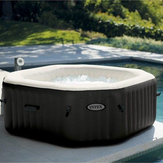 spa gonflable intex octo bulles octogonale 4 places assises leroy merlin. Black Bedroom Furniture Sets. Home Design Ideas