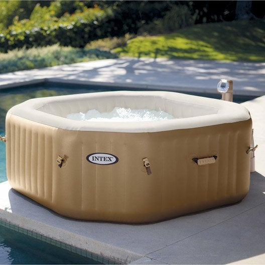 Spa gonflable octogonale intex 4 places assises leroy - Leroy merlin spa gonflable ...