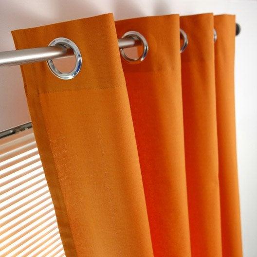 rideau tamisant sunny orange potiron x cm inspire leroy merlin. Black Bedroom Furniture Sets. Home Design Ideas