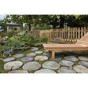 Pav stonewood en b ton imitation bois l 22 5 x l 22 5 cm p 50 mm le - Pas japonais leroy merlin ...