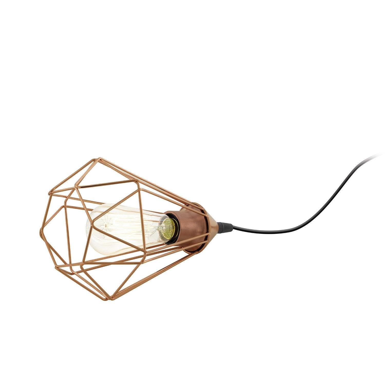 Lampe Vintage Acier Inox Cuivre Inspire Byron Leroy Merlin