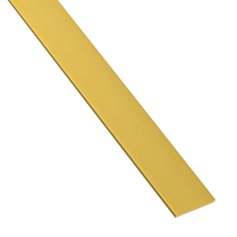 Plat Aluminium Anodisé Doré L1 M X L15 Cm X H02 Cm