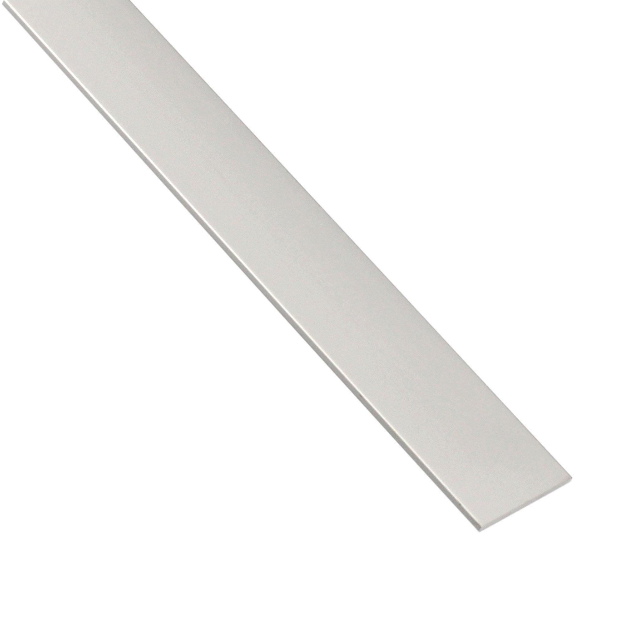 Plat Aluminium Anodisé Argent L26 M X L1 Cm X H02 Cm