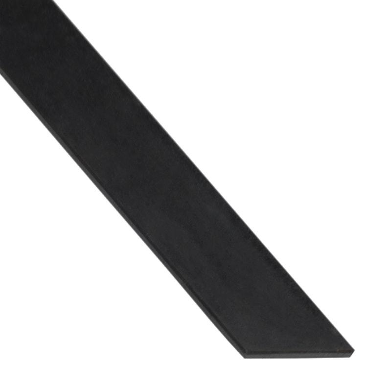 Plat Aluminium Anodisé Noir L1 M X L15 Cm X H02 Cm