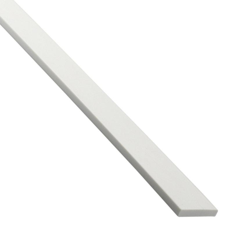 Plat Pvc Mat Blanc L26 M X L4 Cm X H03 Cm