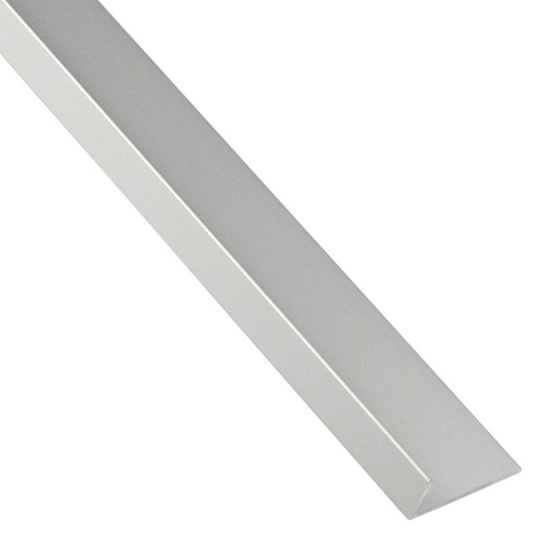 Cornière Inégale Aluminium Mat Argent L26 M X L4 Cm X H17 Cm