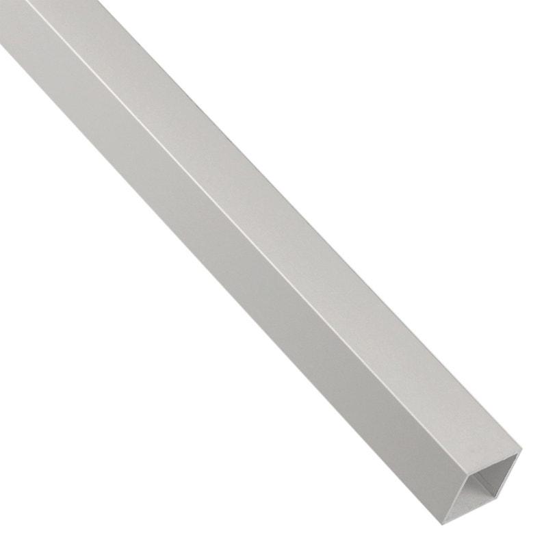 Tube Carré Aluminium Anodisé Argent L1 M X L16 Cm X H16 Cm