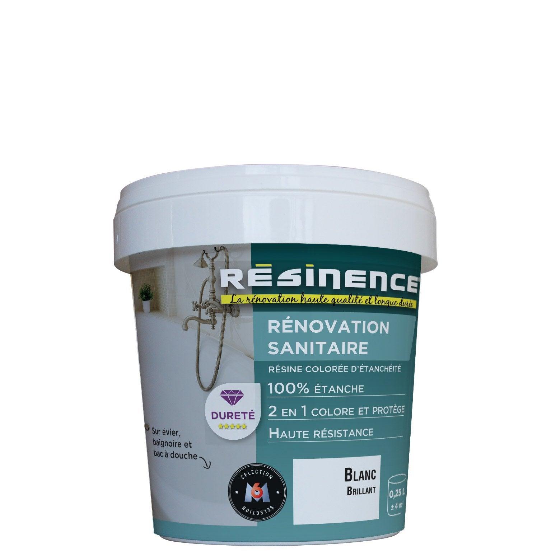 Nettoyer Evier Resine Tache résine colorée vasque, évier et baignoire , rÉsinence, blanc brillant, 0.25  l l