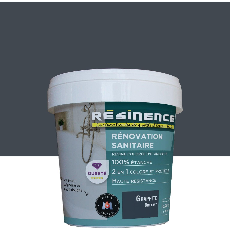 Nettoyer Evier Resine Tache résine colorée vasque, évier et baignoire , rÉsinence, graphite brillant,  0.25 l