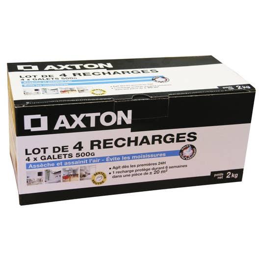 lot de 4 recharges galet pour absorbeur d 39 humidit axton. Black Bedroom Furniture Sets. Home Design Ideas
