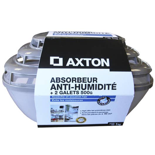 Absorbeur d 39 humidit galet axton 40 m leroy merlin - Absorbeur d humidite salle de bain ...
