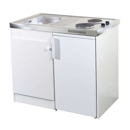 kitchenette electrique blanc spring x x cm leroy merlin. Black Bedroom Furniture Sets. Home Design Ideas