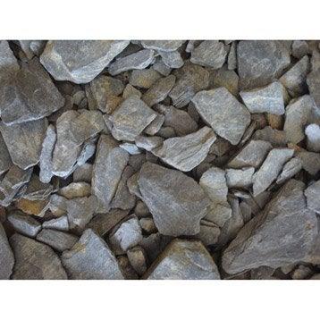 Pétales d'ardoise pierre naturelle gris Schiste 10/30mm, 1 t