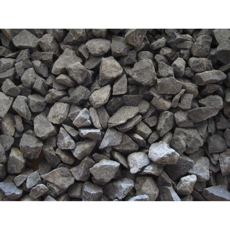 Graviers pierre naturelle noir Basalte 6/14mm, 1 t | Leroy Merlin