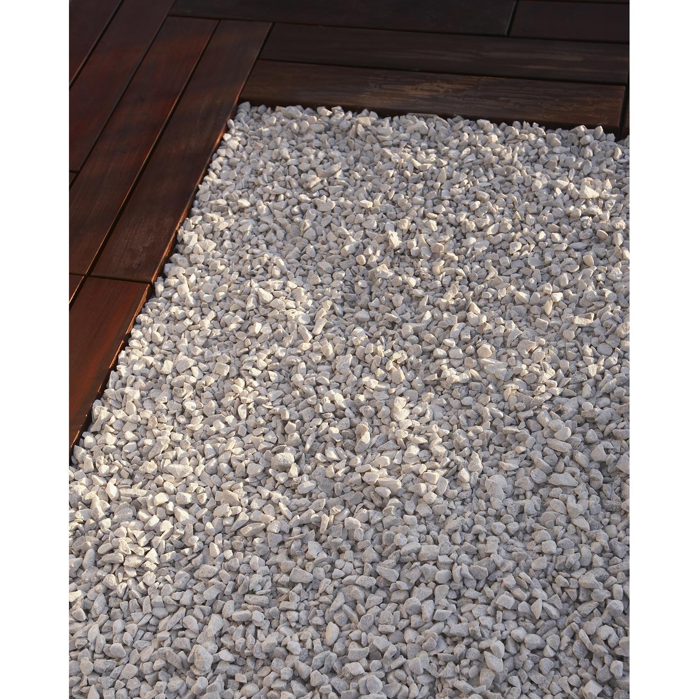Graviers en marbre concass blanc 8 16 mm 1 t leroy for Terrasse en gravier concasse