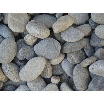 Galets pierre naturelle gris Gabions 20/50mm, 1 t