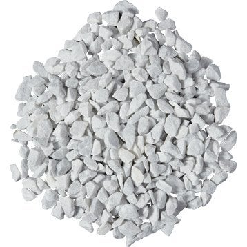 Graviers en marbre, blanc 12/18 mm, 1 t