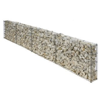 Gabion aluminium / zinc gris 232 x 10 x h.40 cm