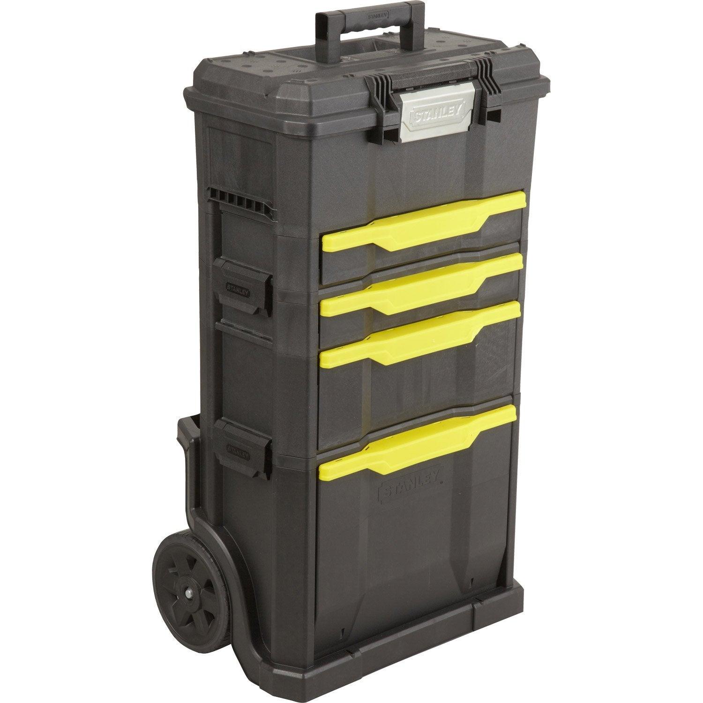 servante de chantier bo te outils stanley plastique 4 tiroirs 50 cm leroy merlin. Black Bedroom Furniture Sets. Home Design Ideas