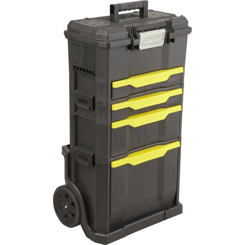Servante De Chantier Boîte à Outils Stanley Plastique 4 Tiroirs 50 Cm