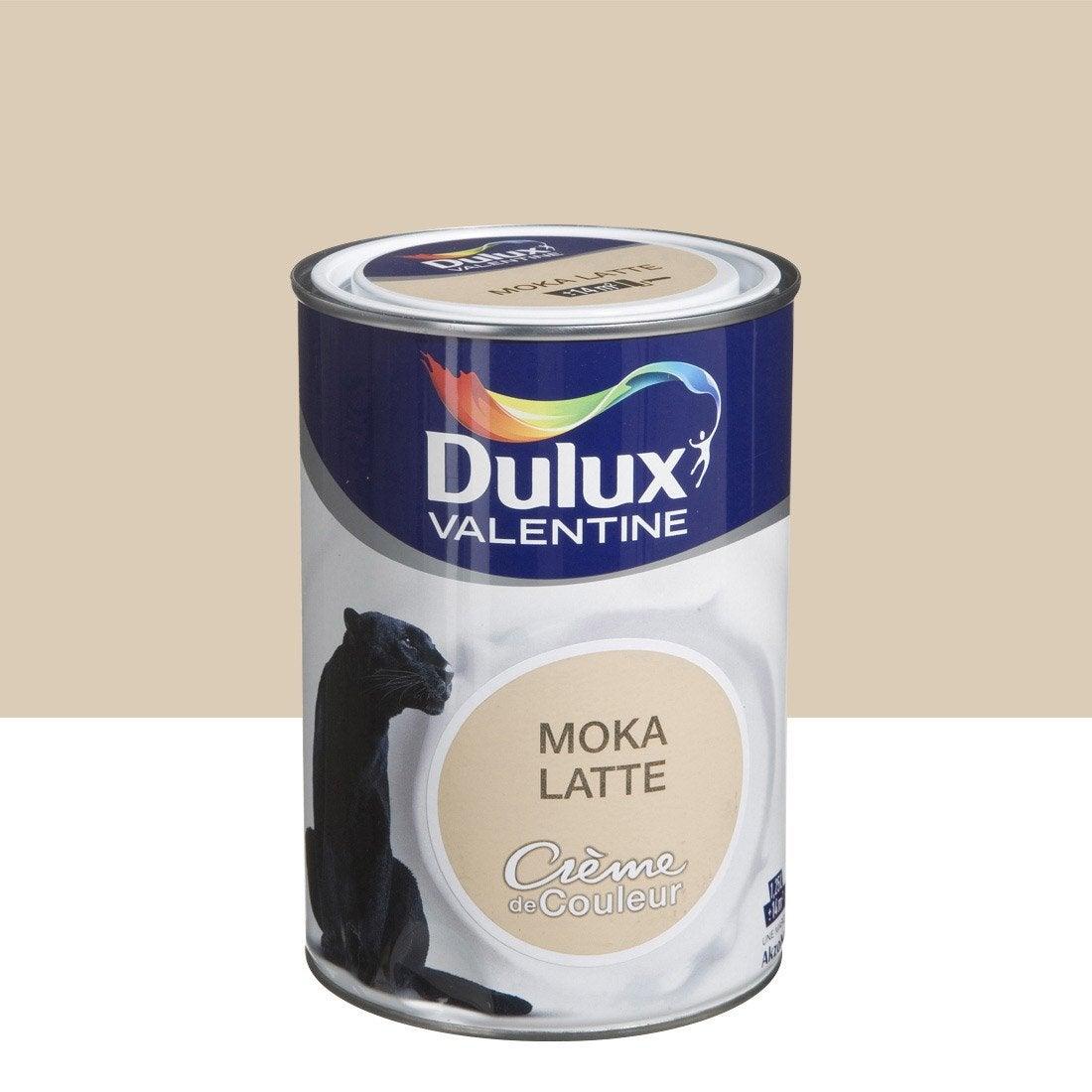 peinture brun moka latte satin dulux valentine cr me de. Black Bedroom Furniture Sets. Home Design Ideas