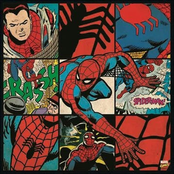 Toile marvel spiderman 30x30 cm for Miroir 90x30