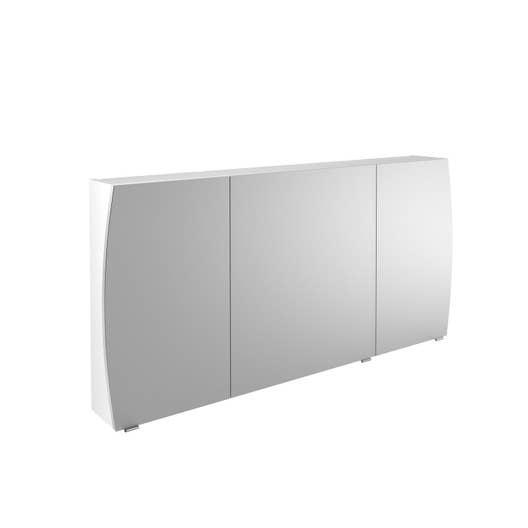 armoire de toilette l 140 cm blanc image leroy merlin. Black Bedroom Furniture Sets. Home Design Ideas