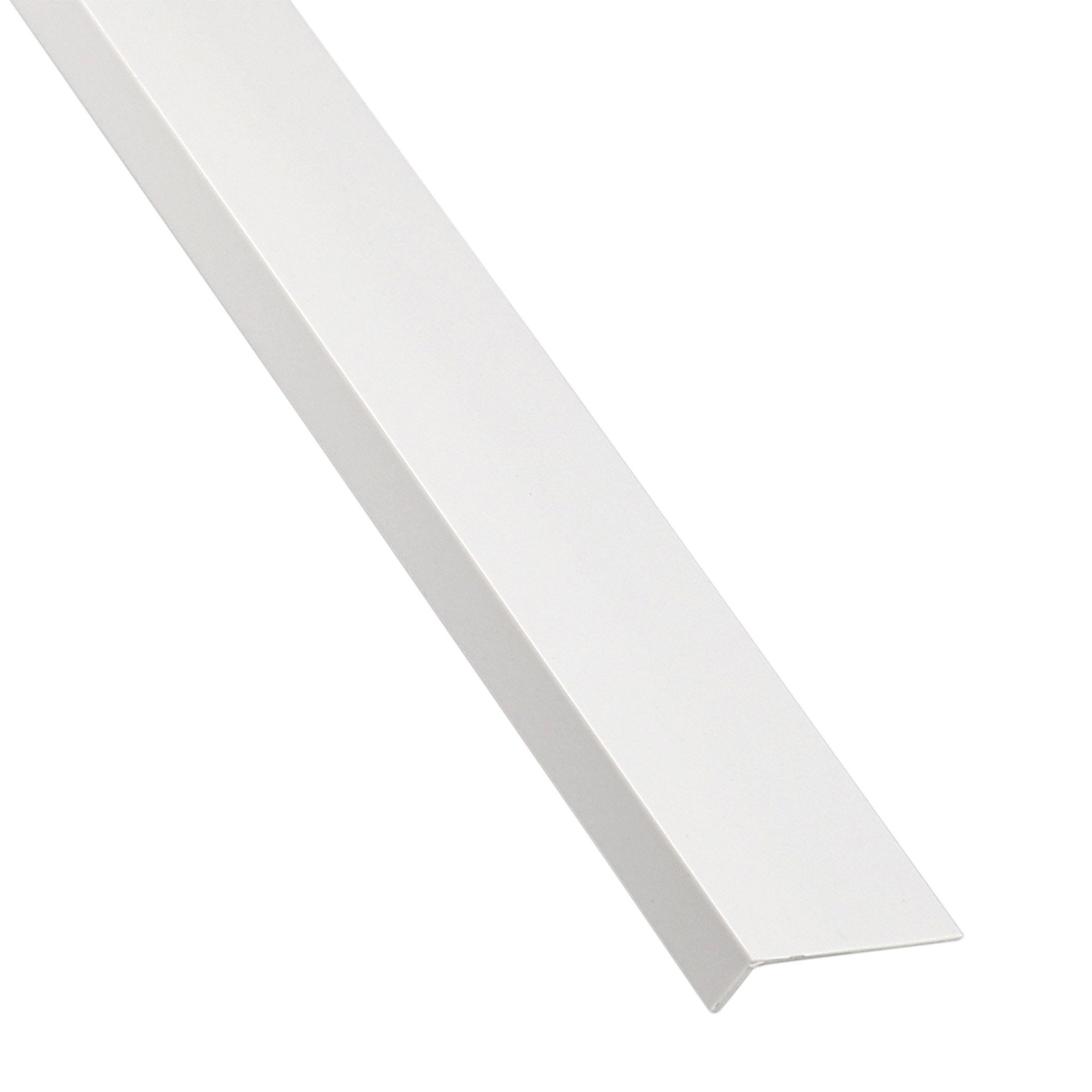 Cornière Inégale Pvc Mat Blanc L1 M X L52 Cm X H3 Cm